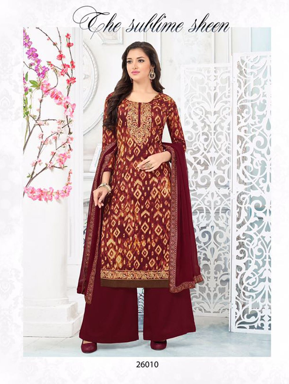 85ecb495c307c Maroon Exclusive Latest Plazo Suit Online Shopping Stores
