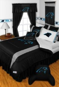 Officially Licensed Carolina Panthers NFL Football Bedding For Boys In  Official Team Colors Of Black,