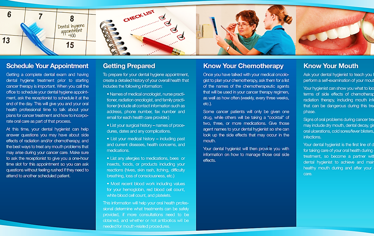 A dental brochure displaying all its services. | Dental Brochure ...