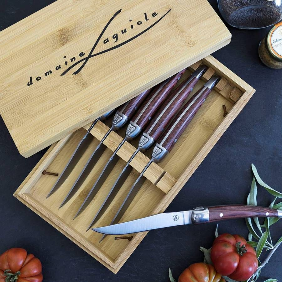 Set of 6 Brown Domaine Steak Knives in 2020 Steak knives
