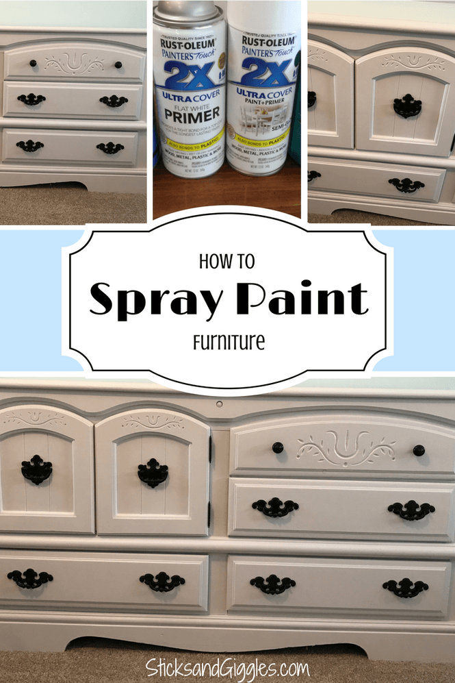 How I Rehab Furniture With Spray Paint Diy Dresser Spray Paint