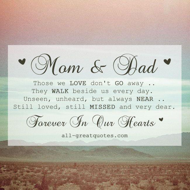 I Love Mom And Dad Poems Free Memorial In Lovin...
