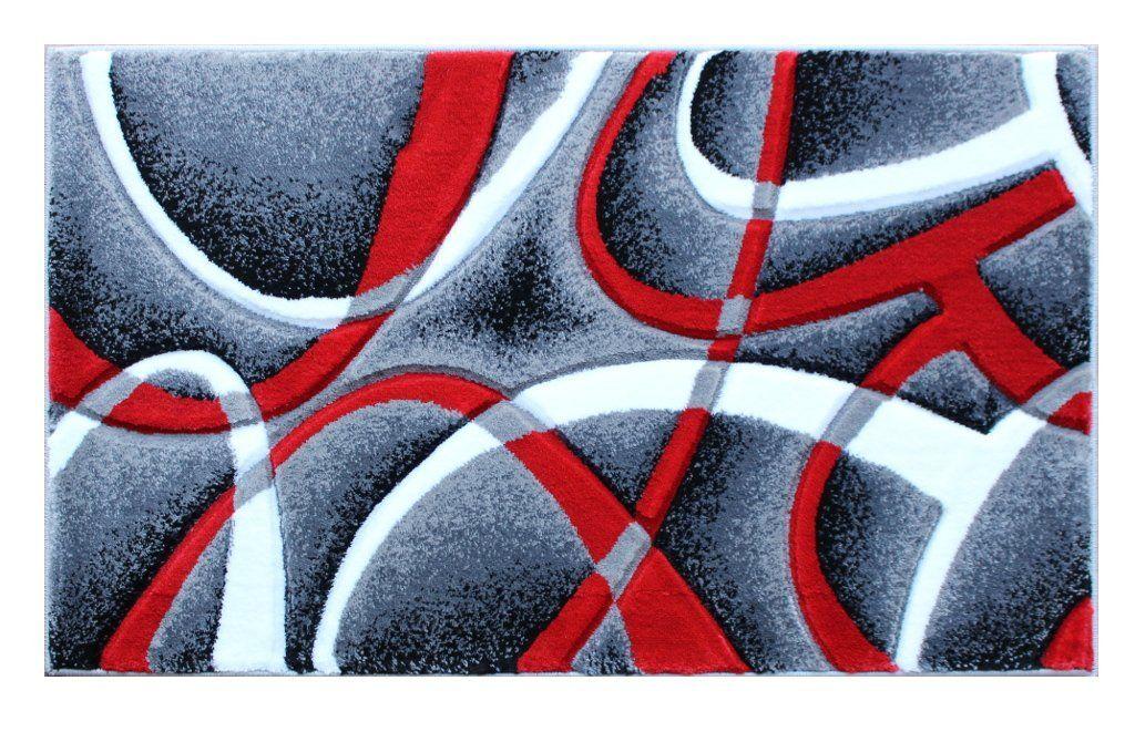 Mat Masada Rugs Modern Contemporary Area Rug 2 Feet X 3 Feet Grey