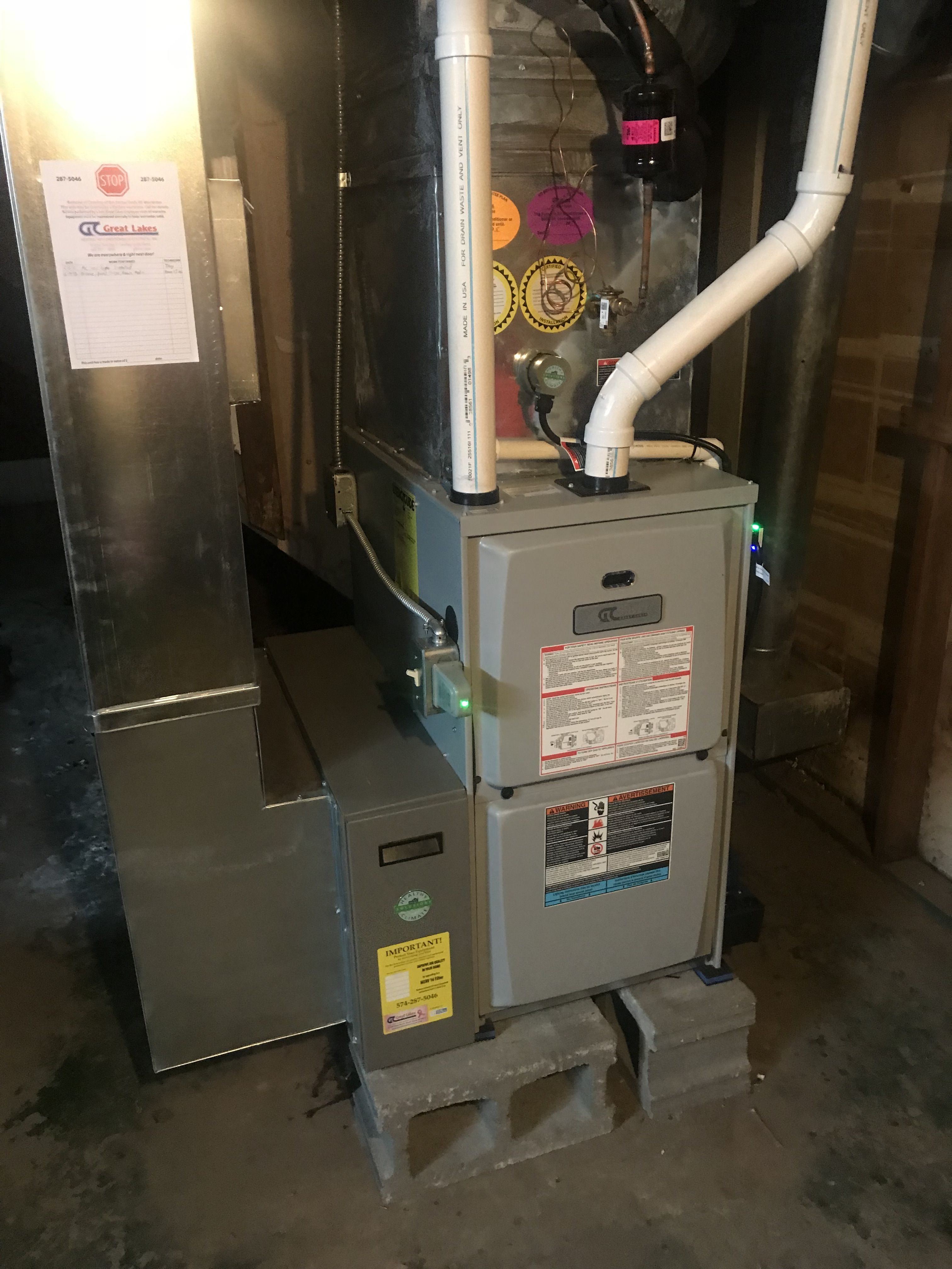 Michiana Heating And Cooling Electrical Furnace Installation