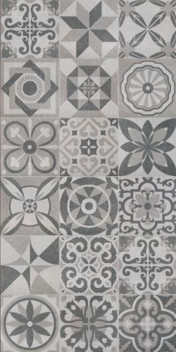 Florence Patchwork Decor Floor Tiles 50x50cm These Vintage Effect Come As A Random Mix Of Patterns Perfect For An On Trend Project With Its