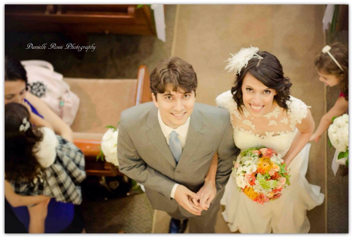 Wedding day. Casamento na igreja.