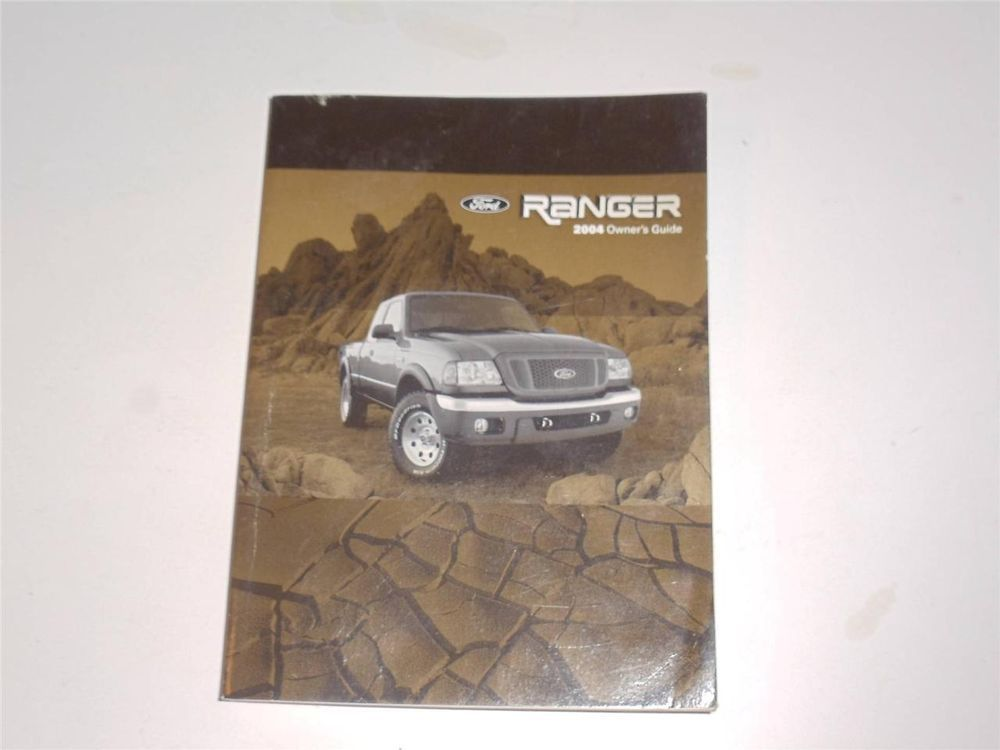 2004 Ford Ranger Owners Manual Book