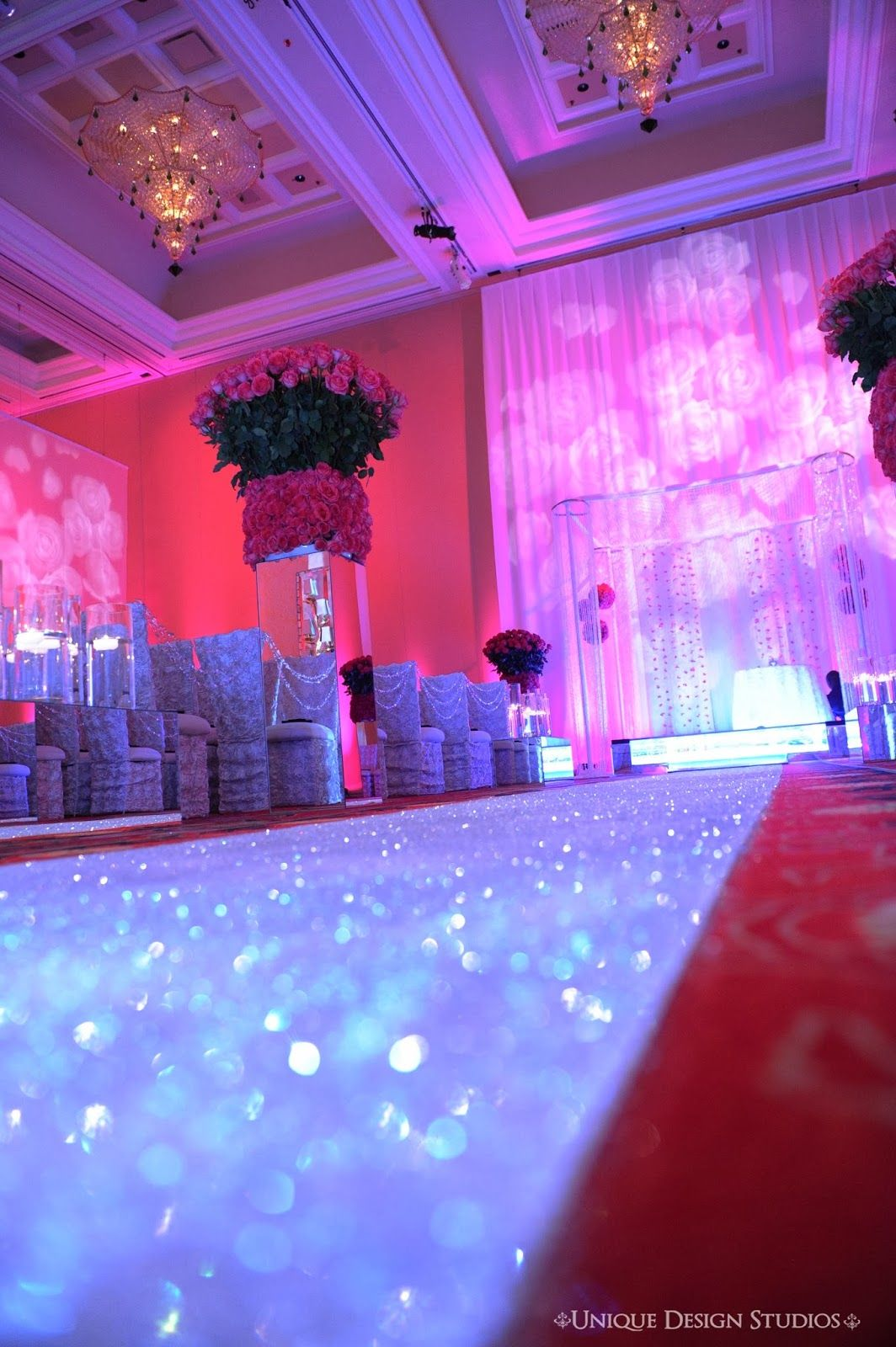 Gorgeous Ceremony Decor And Exclusive Tiffany Cook Bling Aisle Runner By At Encore Hotel