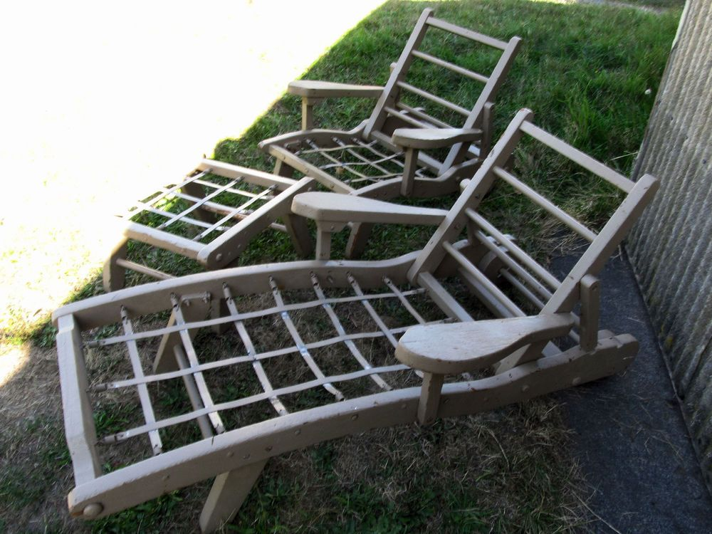 Vintage Redwood Lawn Furniture Probably California Early