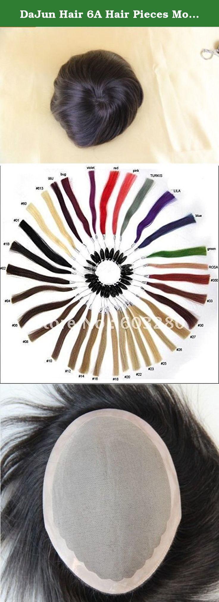 Dajun hair a hair pieces mono base menus toupee european soft inch