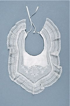 antique baby bib  My Tami had 5 of these in different shapes when she was a baby.  My Aunt gave them to her.
