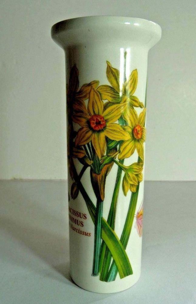 Small Portmerion The Botanic Garden Daffodil Vase Susan Williams