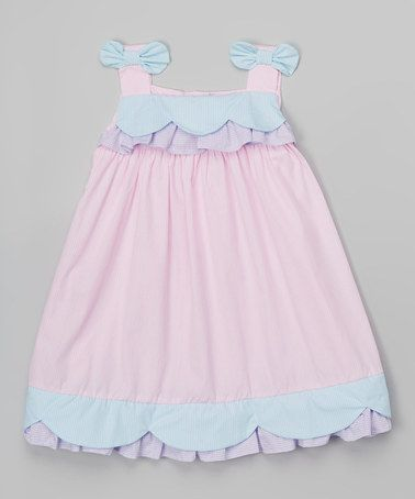 Another great find on #zulily! Pink & Blue Ruffle Swing Dress - Infant & Toddler #zulilyfinds