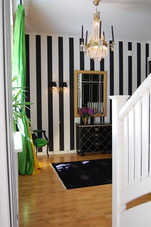 Main Entry Black And White Striped Wallpaper Feature Wall Bedroom Striped Wallpaper Living Room Black And White Wallpaper
