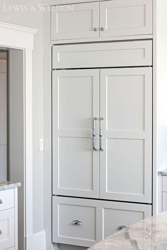 Appliance Cabinet Pulls Fridge Is Integrated Behind Shaker Door Style Doors Lewis Weldon Custom Kitchens Custom Kitchens House Design Integrated Fridge