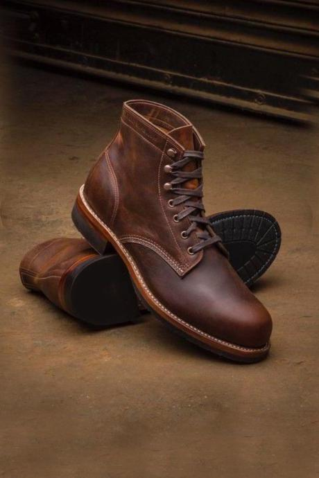 Men Handmade Ankle High Hand Panted Boots Men Brown Two Tone Digger Casual Boots In 2020 Mens Boots Fashion Mens Boots Casual Boots Outfit Men