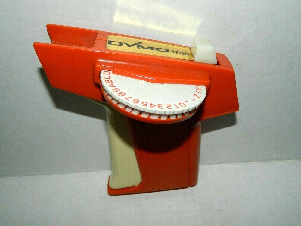 Vintage Dymo 1780 Embossing Label Maker Orange Plastic 3 8 1 4 Dymo Embossing Label Maker Label Maker Tape Label Maker