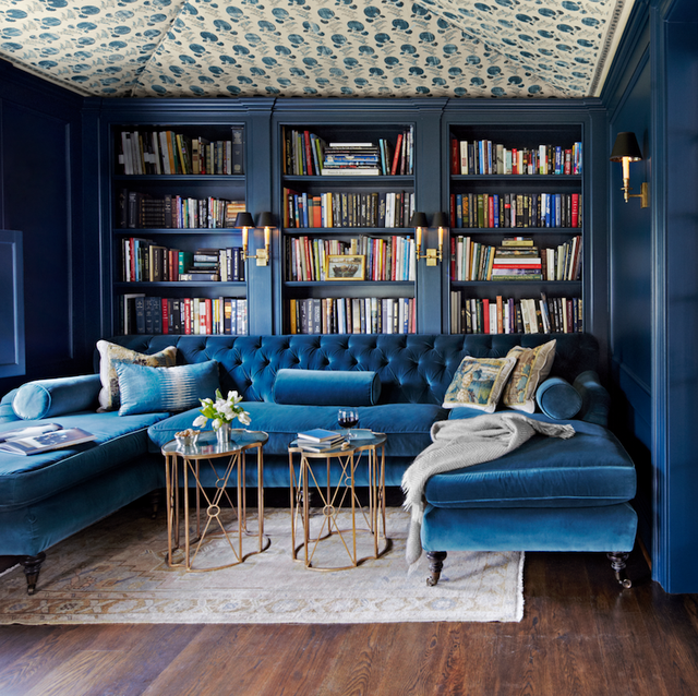 jewel tone library room google search blue painted on indoor wall paint colors id=74347