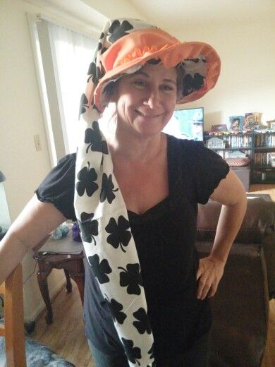 Festive Halloween hat I made for under $10