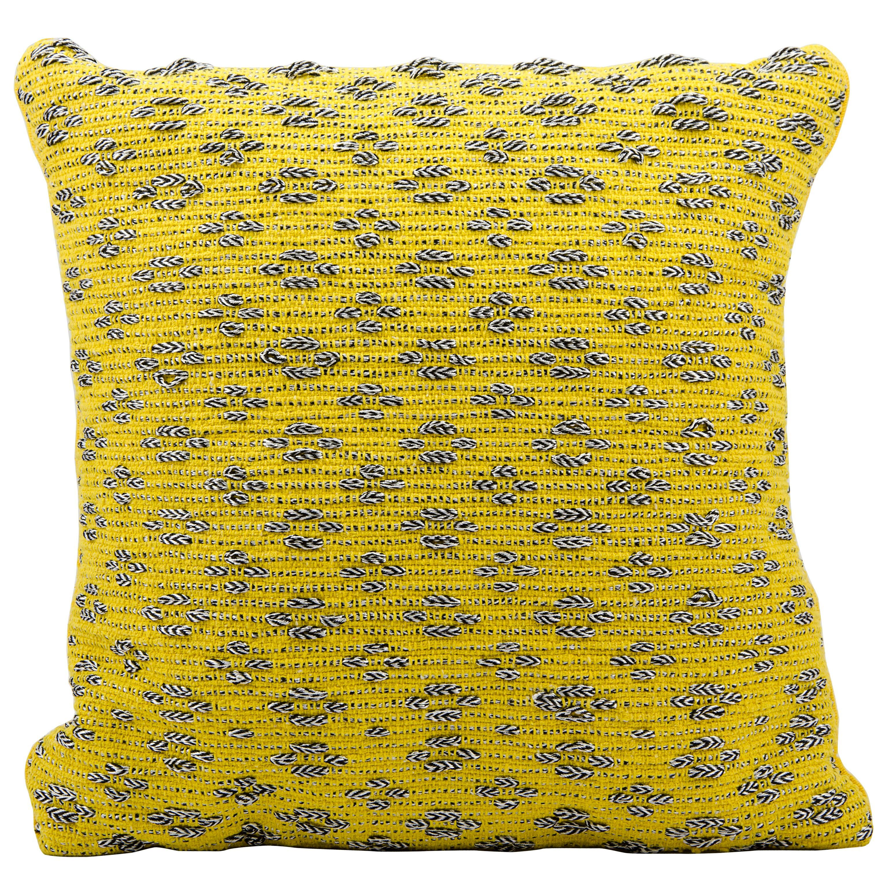 Mina victory woven luster tania yellow throw pillow inch x