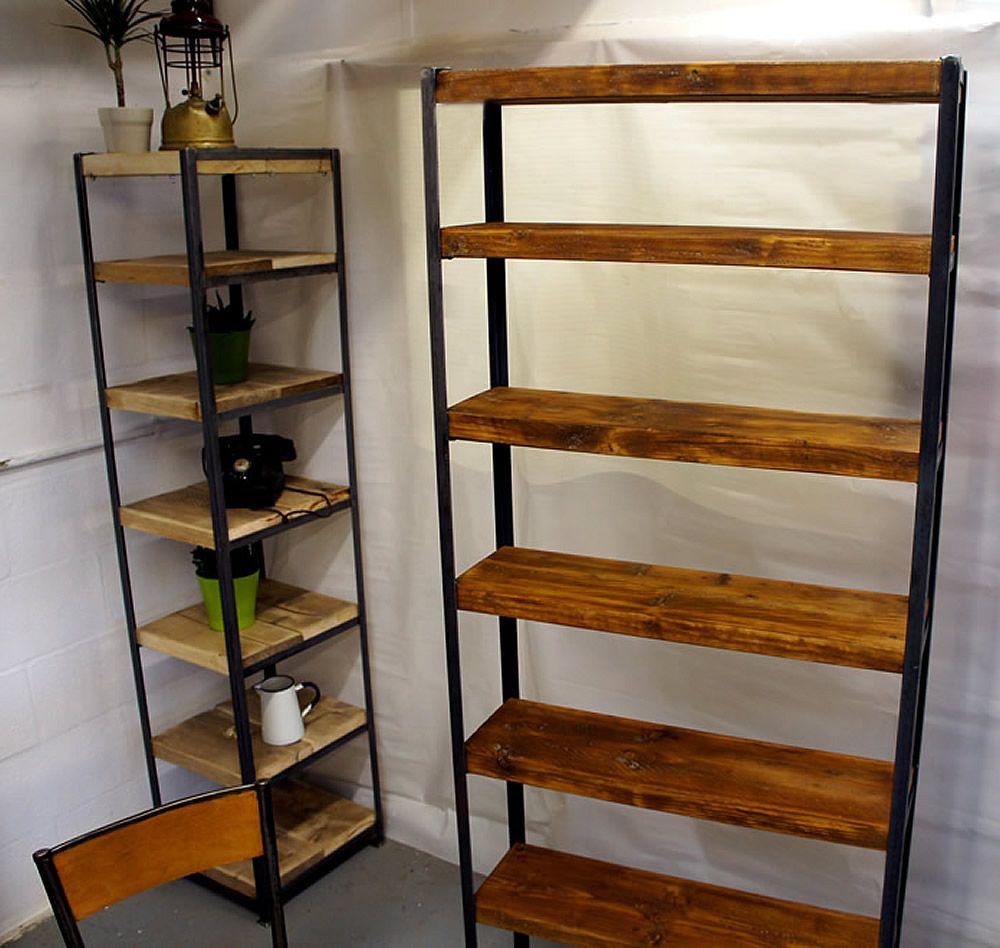 tall vintage industrial shelves vintage industrial. Black Bedroom Furniture Sets. Home Design Ideas