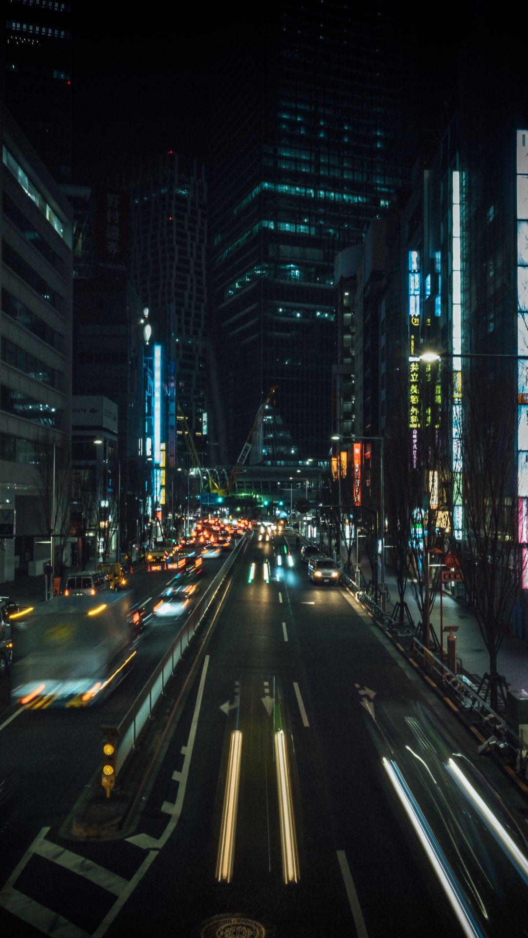 Wallpapers Architecture City Street Road Urban Area City City Background City Pictures City buildings road cars night street