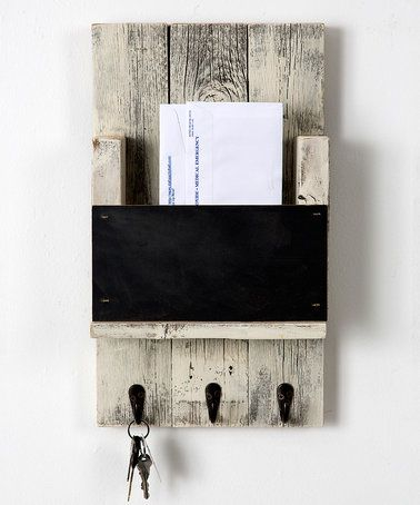 Look what I found on #zulily! Whitewash Chalkboard Mail Slot Wall ...