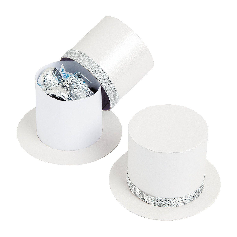 Top Hat Favor Boxes - OrientalTrading.com | favors | Pinterest ...