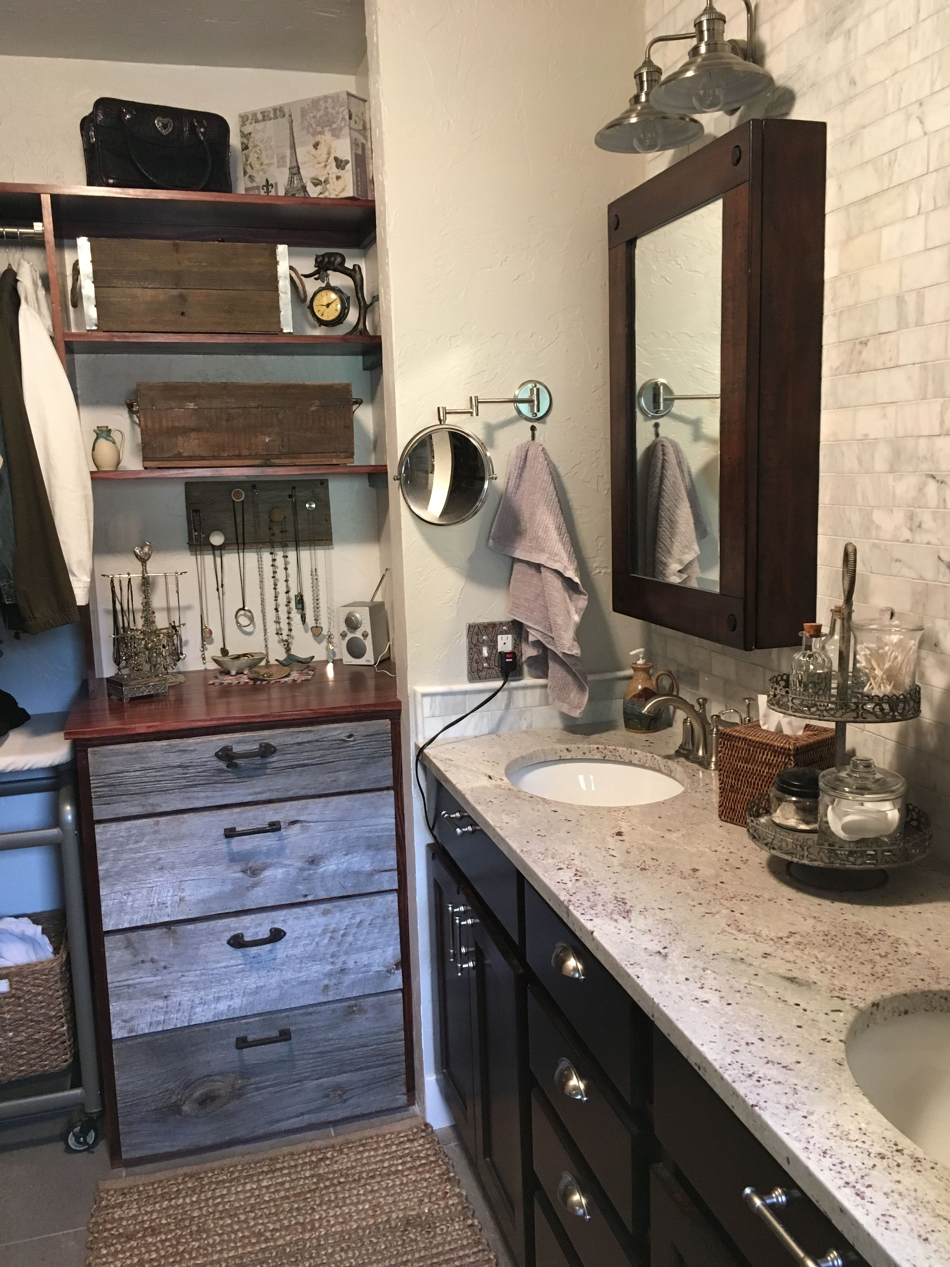 Closet rustic farmhouse built in dresser with images