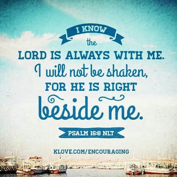 Psalms 16 8 Inspirational Image: Bible Verses Quotes