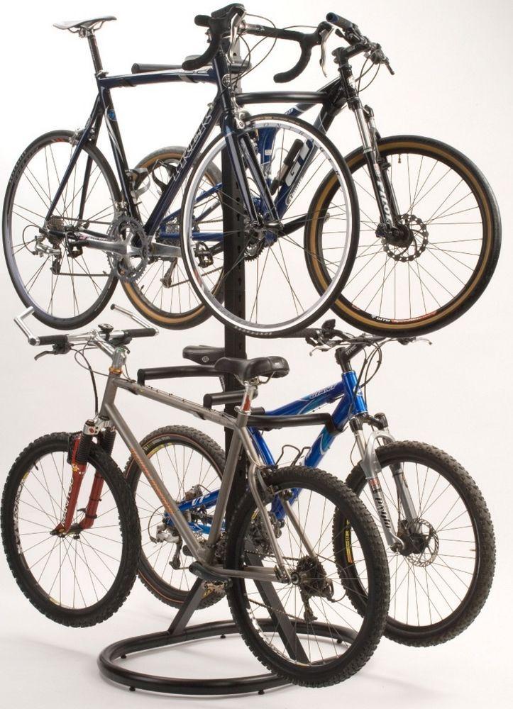 Bike Storage Racks For Garage 4 Four Stand Vertical Rack Free Standing Multi | Bike storage rack  sc 1 st  Pinterest & Bike Storage Racks For Garage 4 Four Stand Vertical Rack Free ...