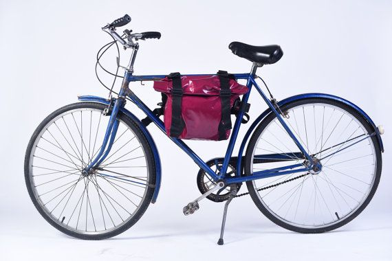 Pink Bike Basket Bicycle Bag