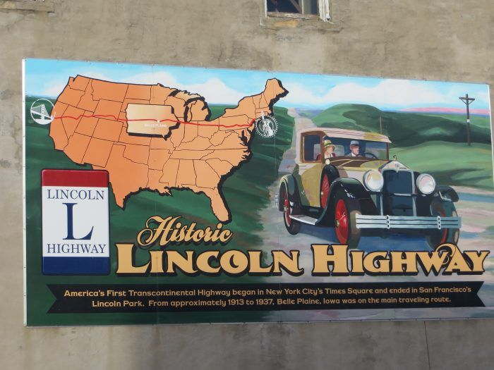 This mural in Belle Plaine shows that it was on the original Lincoln Highway route and poised for growth.