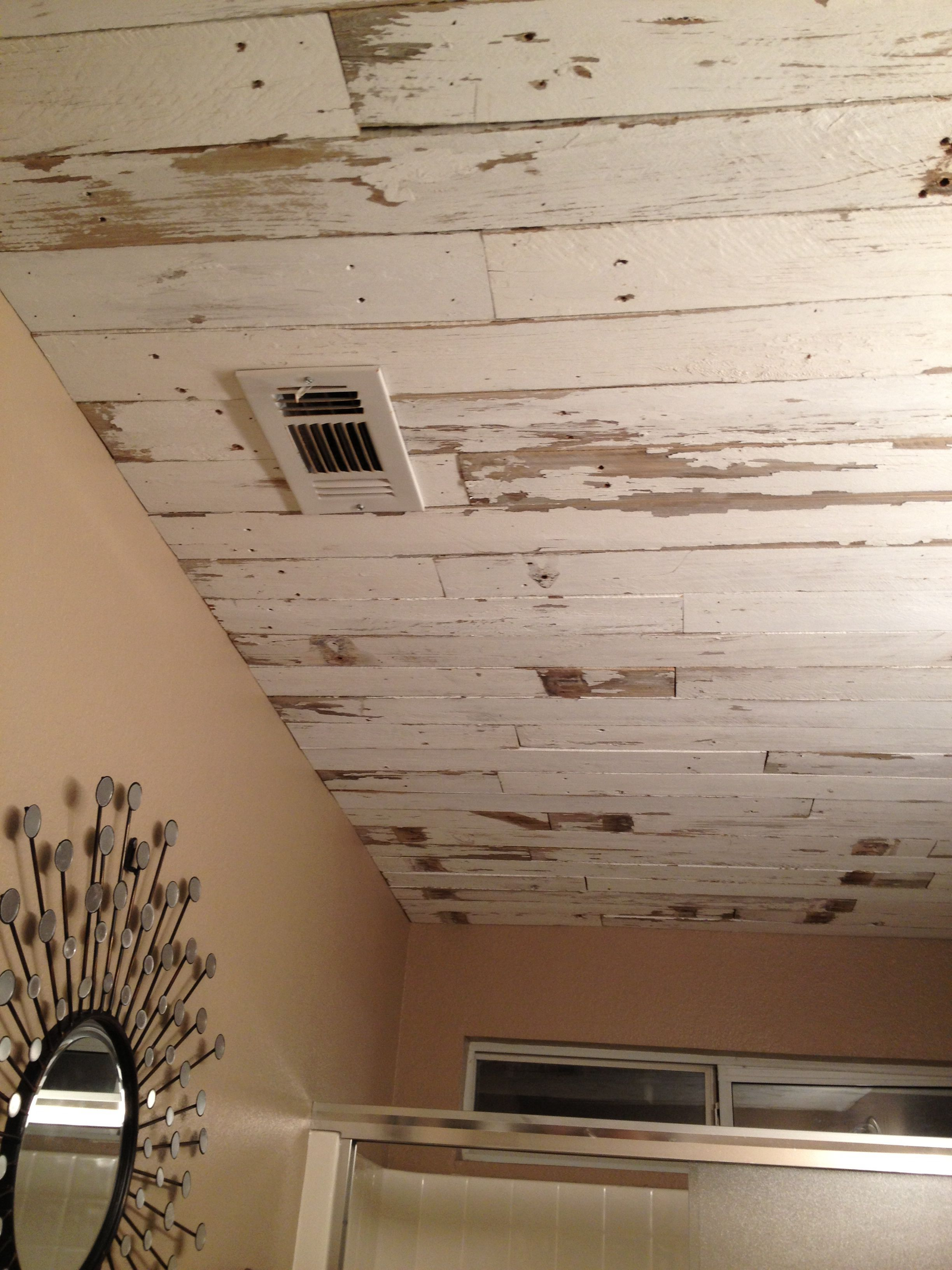 Fence Board On The Bathroom Ceiling
