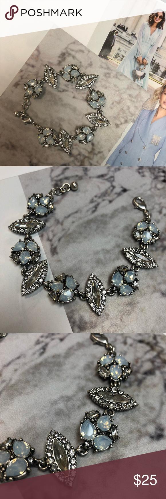 Photo of Alissa Silver Bracelet Crystal Gem Statement Alissa Crystal Bracelet   Alissa Si…