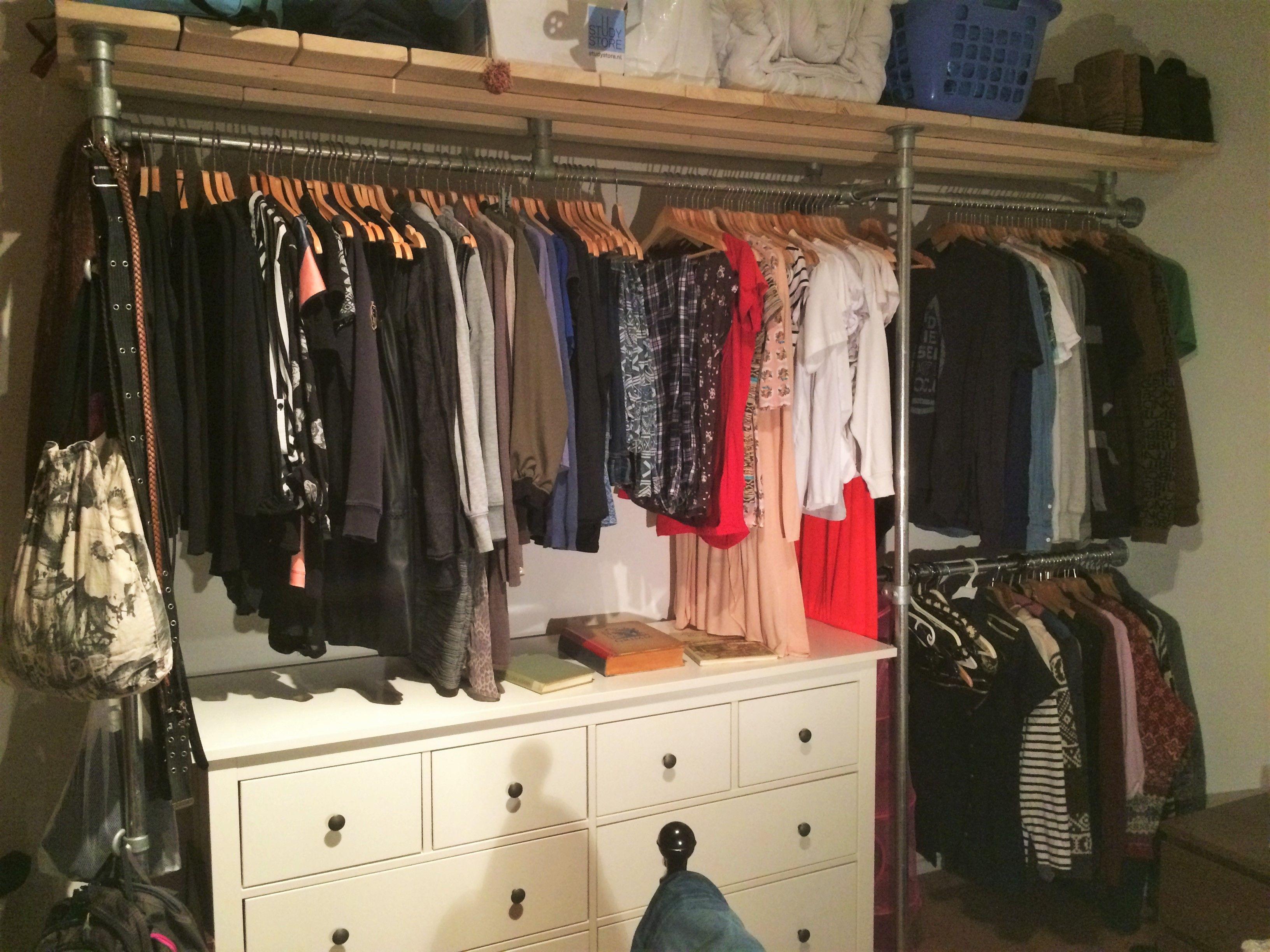Creatief Met Inloopkast : Image result for creatieve steigerbuis houten kasten my new closet