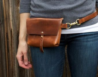Photo of The Bogotá – Hip Bag, Belt Bag in Rustic Red Kodiak Leather