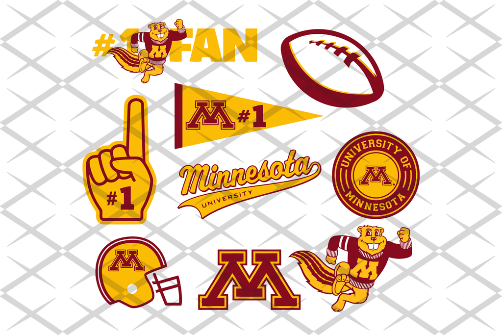 Minnesota Svg Team Svg Files For Silhouette Files For Cricut Svg Dxf Eps Png Instant Download In 2020 Football Logo Football Team Logos Sports Svg
