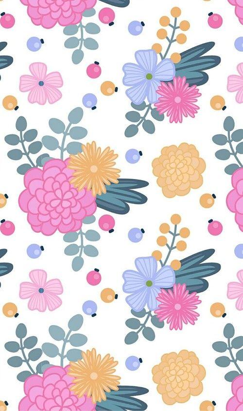 Imagem De Art Pattern And Background Flower Wallpaper Floral Wallpaper Iphone Wallpaper Blue flower wallpaper cartoon