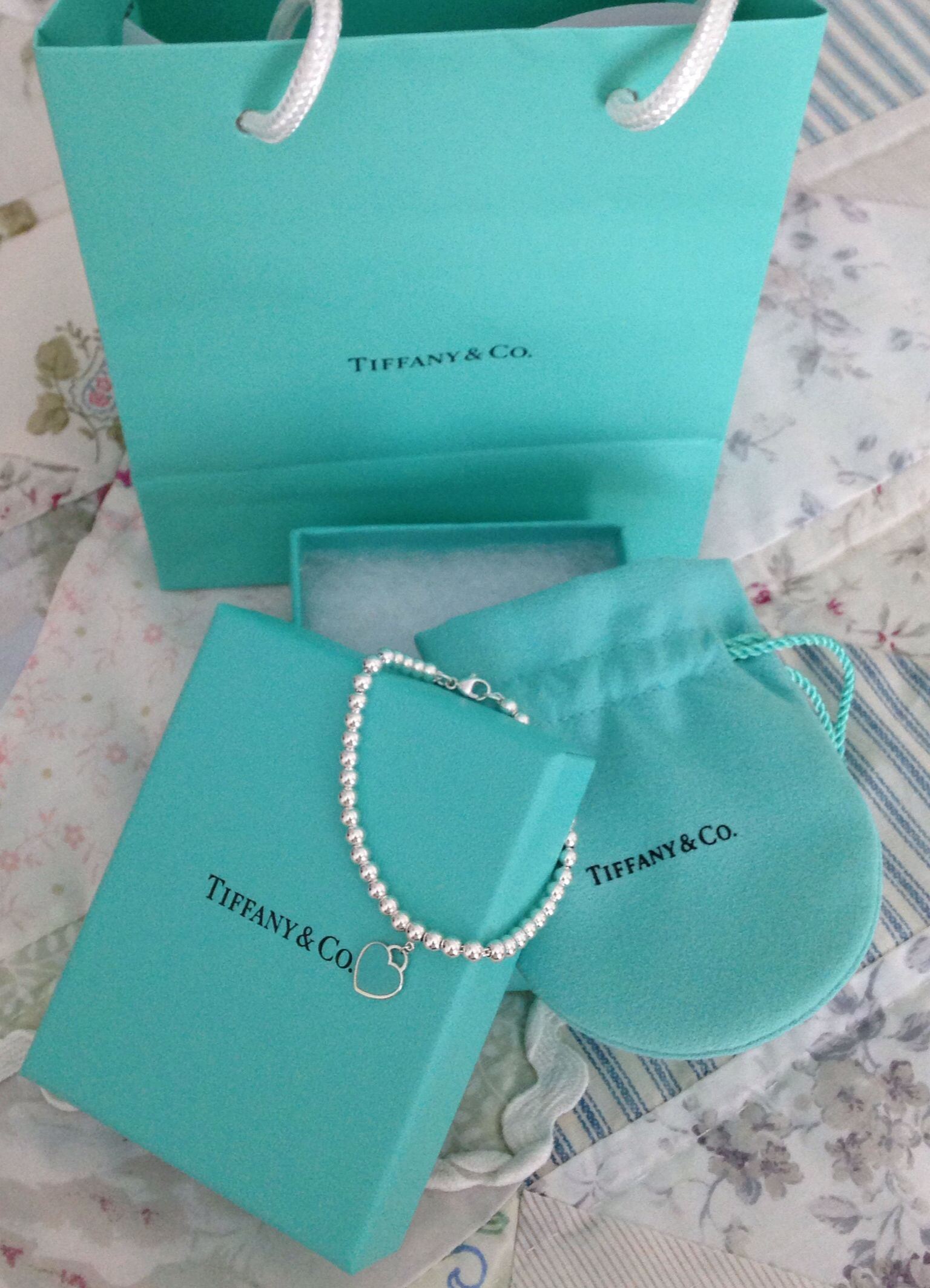 My first Tiffany's bracelet from my BFF