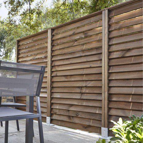 kit panneau persienn en bois naturel x cm x. Black Bedroom Furniture Sets. Home Design Ideas