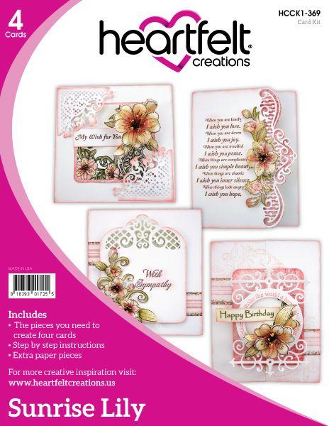 Heartfelt Creations - Sunrise Lily Collection - Card Kit