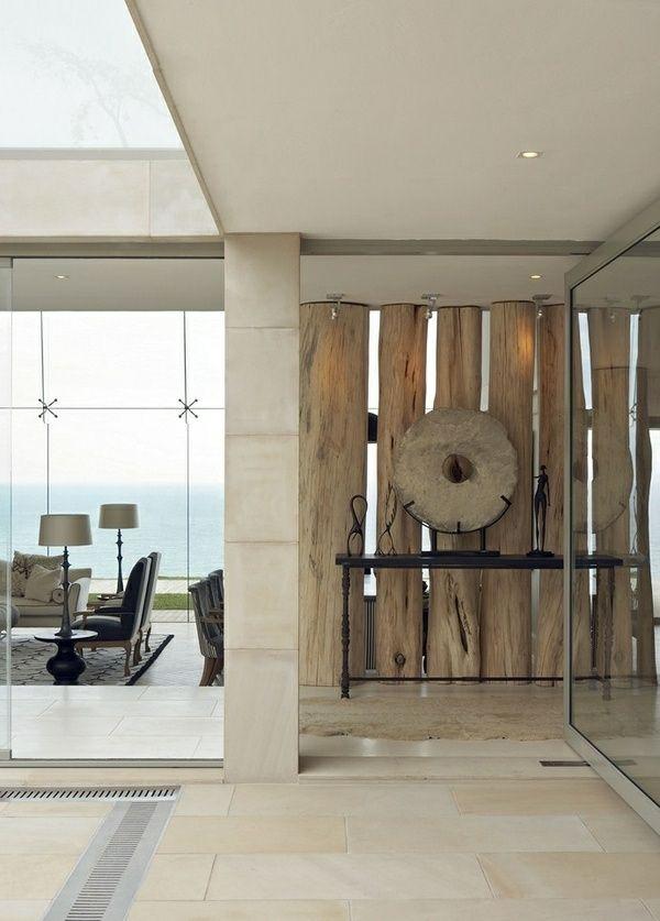 30 Raumteiler Ideen aus Holz verleihen eine natürliche Note ...