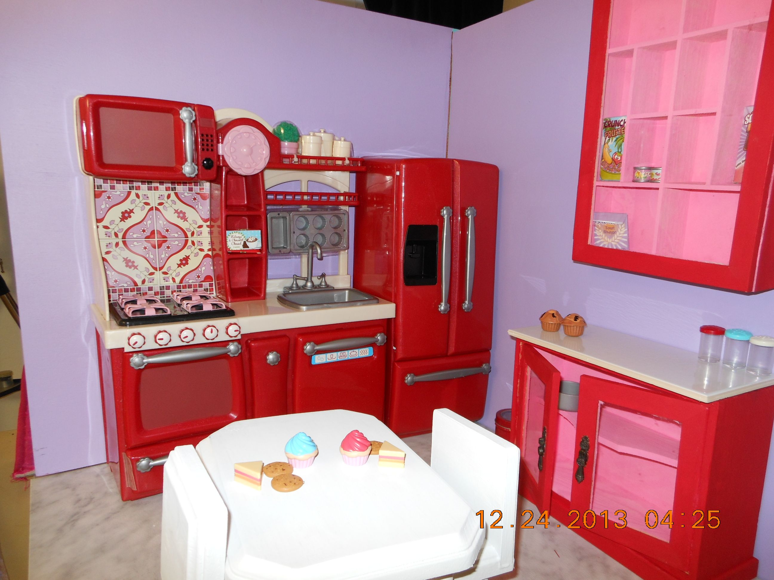 kitchen in Raes American Girl Doll House  My American