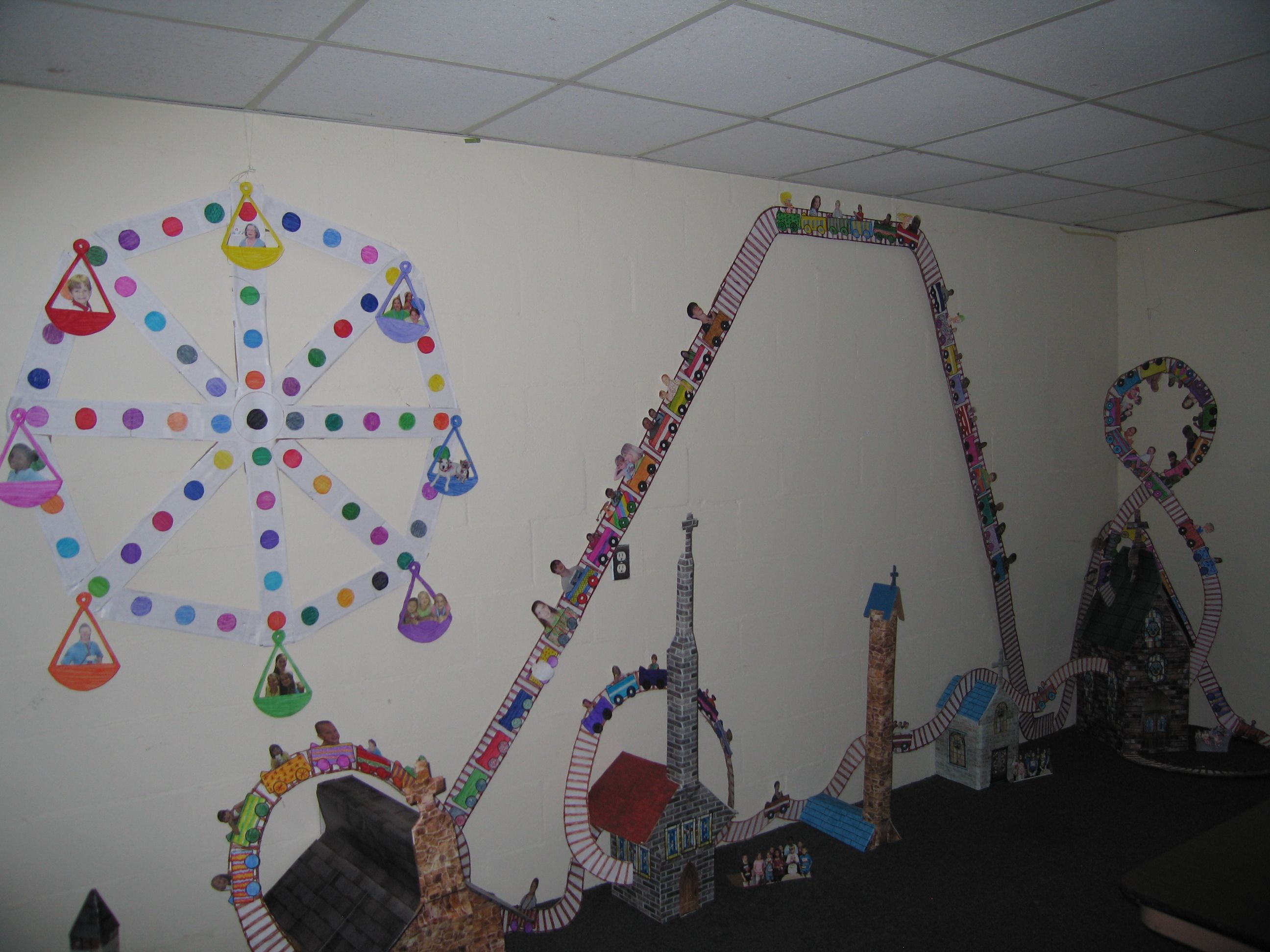 Kids Craft Room Ideas: Refuge VBS Craft Room With Actual Pictures Of Kids From