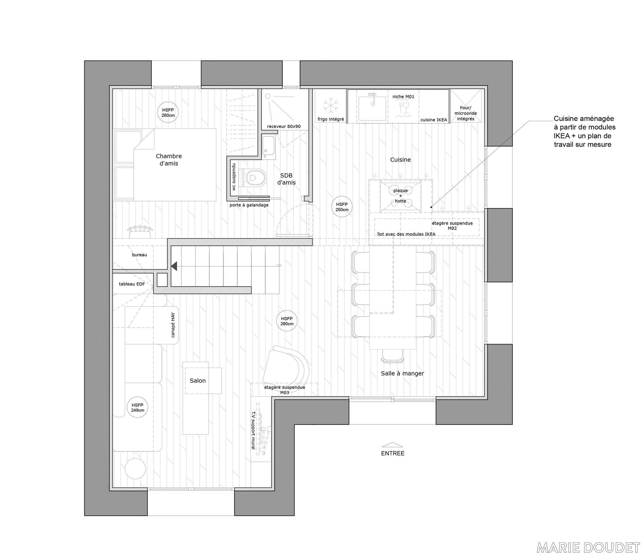 r novation maison des ann es 30 marie doudet c t maison plan maison pinterest. Black Bedroom Furniture Sets. Home Design Ideas