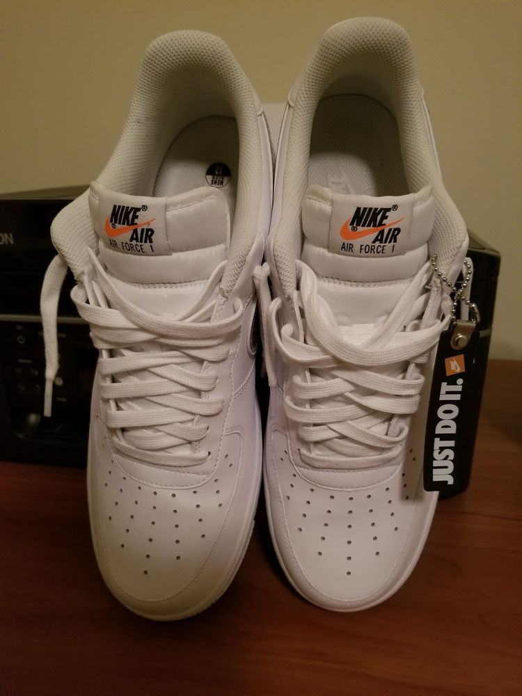 """Nike Air Force 1 """"Just Do It"""" Color white fashion"""