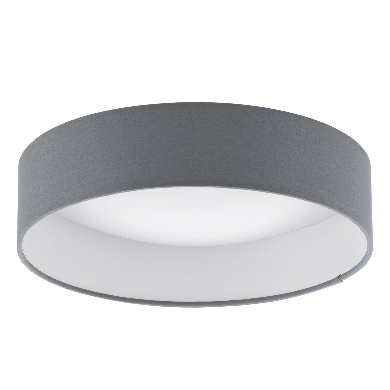 plafonnier led gris