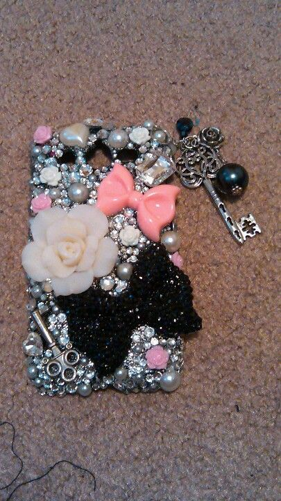 Cell phone case bling! E6000 glue and some jewels!
