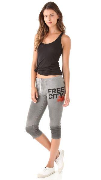 Freecity Freecity 3 4 Sweatpants Fleece Sweatpants Sweatpants Wardrobe Essentials